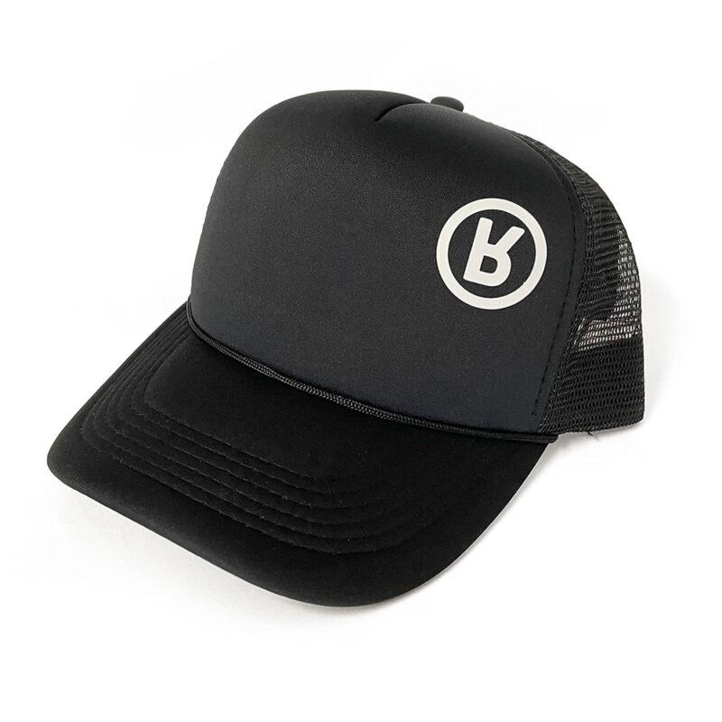 Rabbit Logo Hat Black - Foam / Mesh Trucker 3D Vinyl