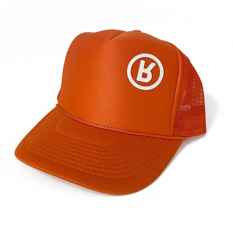 Rabbit Logo Hat Fire Orange - Foam / Mesh Trucker 3D Vinyl